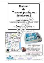 Manuel de Travaux Pratiques, niveau BAC + 2, (comptes rendus), asservissement de vitesse et position  (Réf - ERD050040) 1/4
