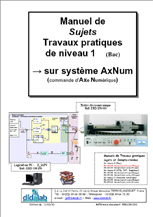 Manuel de Travaux Pratiques appliqués à l'AxNum, niveau Bac (sujets), régulation position (Réf - ERD150030) 1/4