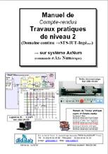 Manuel de Travaux Pratiques, Niveau STS, DUT, ingénieurs, (compte rendus), asservissements de position dans le domaine continu (Réf - ERD150040) 1/4