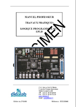 Manuel de Travaux Pratiques compte rendus (professeur), étude de la logique programmable et langange VHDL (Ref - EDD200040) 1/4