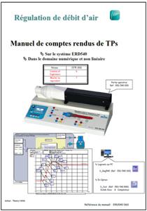 Manuel comptes rendus, débit d'air numérique et non linéaire, Niv. IV/V CITE 2011 (Ref : ERD540060) 1/4