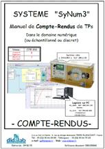 Manuel de Travaux Pratiques (comptes rendus) d'étude des asservissements de vitesse et position dans le domaine discontinu (échantillonné).  (Réf : ERD100060) 1/4