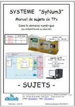 Manuel de Travaux Pratiques (sujets) d'étude des asservissements de vitesse et position dans le domaine discontinu (échantillonné).  (Réf : ERD100070) 1/4