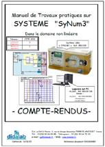 Manuel de travaux Pratiques (sujets) Systèmes asservis dans le domaine non linéaire (Réf : ERD100080) 1/4