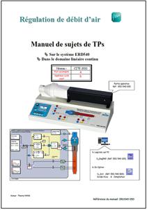 Manuel sujets, régulation de débit d'air dans le domaine continu Niv. IV/V CITE 2011 (Réf ERD540050) 1/4