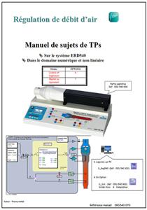 Manuel sujets, débit d'air numérique et non linéaire, Niv. IV/V CITE 2011 (Ref : ERD540070) 1/4