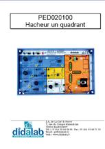 Manuel d'utilisation du module PED 020 100 hacheur dévolteur survolteur (Ref - PED020110) 1/4