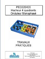 Manuel d'utilisation du module hacheur onduleur monophasé PED 020 420. 1/4