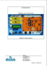 Manuel d'utilisation du module PED 020 700 hacheur dévolteur à thyristor (Ref - PED020710) 1/4
