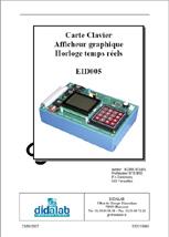 Manuel de Travaux Pratiques, (sujets et comptes rendus), gestion d'un Clavier matriciel et Afficheur graphique (Ref - EID215040) 1/4