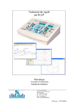 Spécimen du manuel d'utilisation du module d'étude du traitement de signal FibulaG (Réf : ETD410010) 1/4