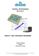 Real-time DSP signal processing, graphical software - User manual (ref: ETD410041) 1/4
