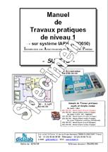 Manuel de Travaux Pratiques, niveau BAC (sujets), régulation de vitesse et position (Réf - ERD050030) 1/4