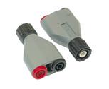 Adaptateur BNC/douilles 4 mm : PEM063700 1/4