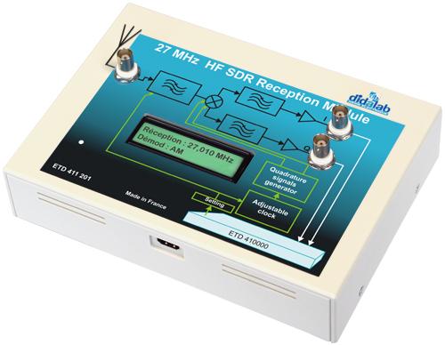 SDR receiver HF 27 MHz (long waves, short waves, IQ demodulator