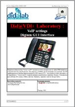 VoIP settings <i>via</i>  Digium GUI - Practical works (ref: ETR400021) 1/4