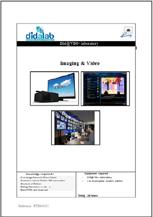 Imaging & Video - Practical works (ref: ETR400031) 1/4