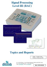 Real-time DSP signal processing, level III CITE (high school) - Practical works manual (ref: ETD410021) 1/4