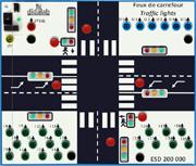 Traffic light system (PLC control) - Training module (ref: ESD200000) 1/4