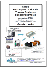 Manuels de TPs Professeur et Etudiants, Asservissement 4 quadrants sur moteur 1.5 kW, (Réf : EP560040) 1/4