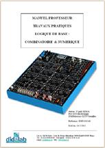 Manuel de Travaux Pratiques comptes rendus (professeur) de logique combinatoire (ref - EDD100040) 1/4