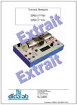 Manuel d'utilisation du Banc d'essai Machine CC TBT (Réf : EPD037580TP) 1/4