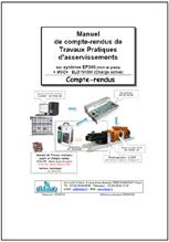 Manuel de Travaux Pratiques professeur (éléments de réponse) de régulation de vitesse sur moteur CC 1.5 kW (Réf - EP360040) 1/4
