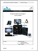"""Manuel de travaux Pratiques """"Programmation en langage C sur PC client"""", (Réf : ETR450030) 1/4"""