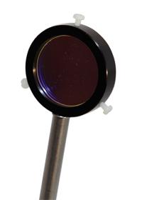 Filtre interférentiel jaune - 578nm sur porte-composant : POD010573 1/4