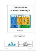 Manuel d'utilisation du module Convertisseur Numérique Analogique (Ref - EDD038060_Man) 1/4