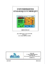 Manuel d'utilisation du module Convertisseur Analogique Numériqe  (Ref - EDD038100Man) 1/4